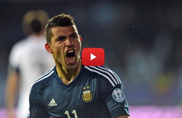 VIDEO: Gol de Agüero en la victoria Argentina 1-0 Uruguay (Copa América 2015) - Oye Juanjo!