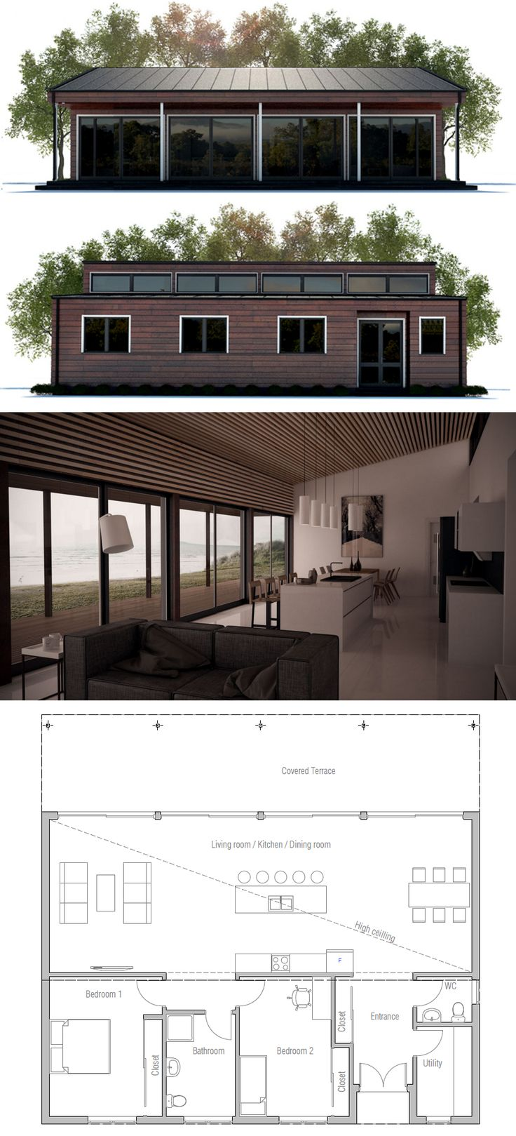 Find this Pin and more on Two Bedroom House Plans by concepthomes. 33 best Two Bedroom House Plans images on Pinterest