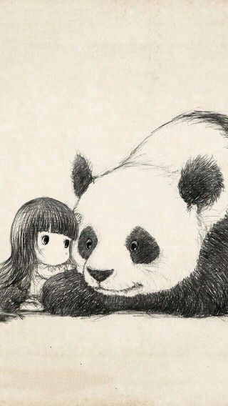 You are my panda, and you my human<3