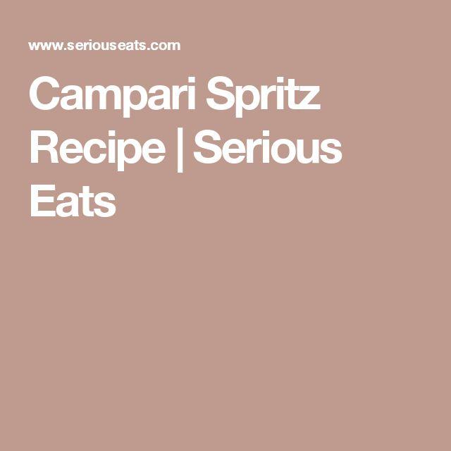 Campari Spritz Recipe | Serious Eats
