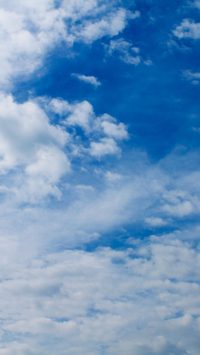 White Clouds On The Blue Sky Nature #iPhone #5s #Wallpaper
