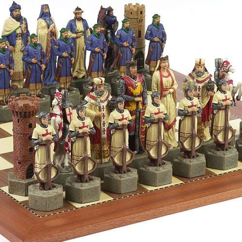 Crusade Chessmen Astor Place Board From Spain Extra Large King 6 78 *** Read