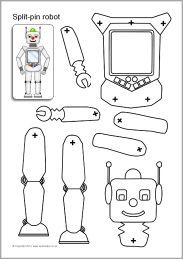 Split-pin robot characters- We were just talking about doing this earlier today! @saradegroff