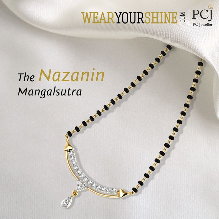 """Create a special bond while you flaunt """"The Nazanin Mangalsutra""""  #WearYourShine #Love #Mangalsutra #Diamonds #PCJeweller #IndianJewellery #Happiness #Wedding #Marriage #Trending"""