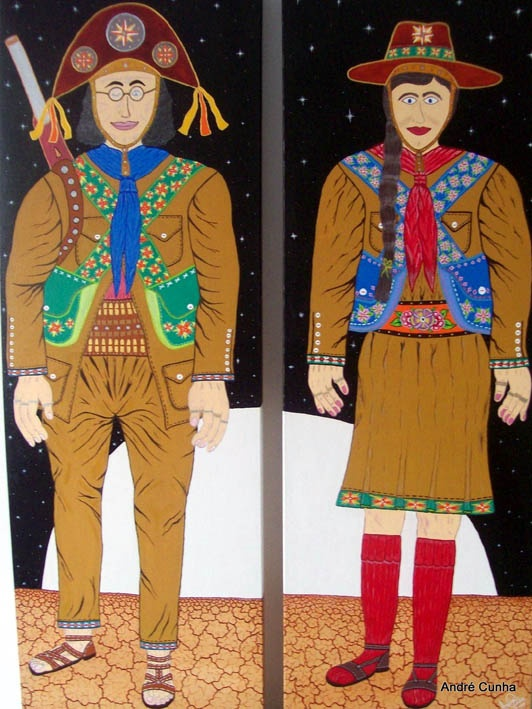 """Instituto Internacional de Arte Naif: André Cunha- Arte naïf brasileira - """"Noite de Lampião e Maria Bonita"""" http://viajerosbrasilperublognoticias.blogspot.com.br/"""