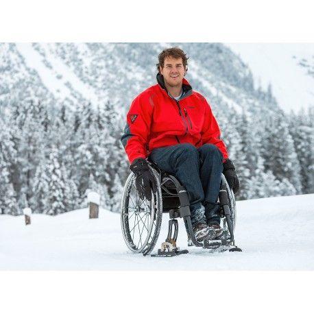 """Mini-Ski pour roues avant de fauteuil roulant """"Wheelblade S"""""""