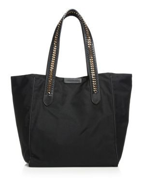 STELLA MCCARTNEY Faux Leather Tote. #stellamccartney #bags #leather #hand bags #nylon #tote #