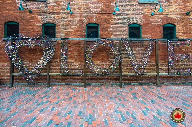 Love is in the air in Toronto's Distillery District.