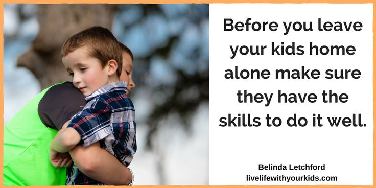 When you are ready to leave your children home alone you need to make sure they have the skills to do it well.