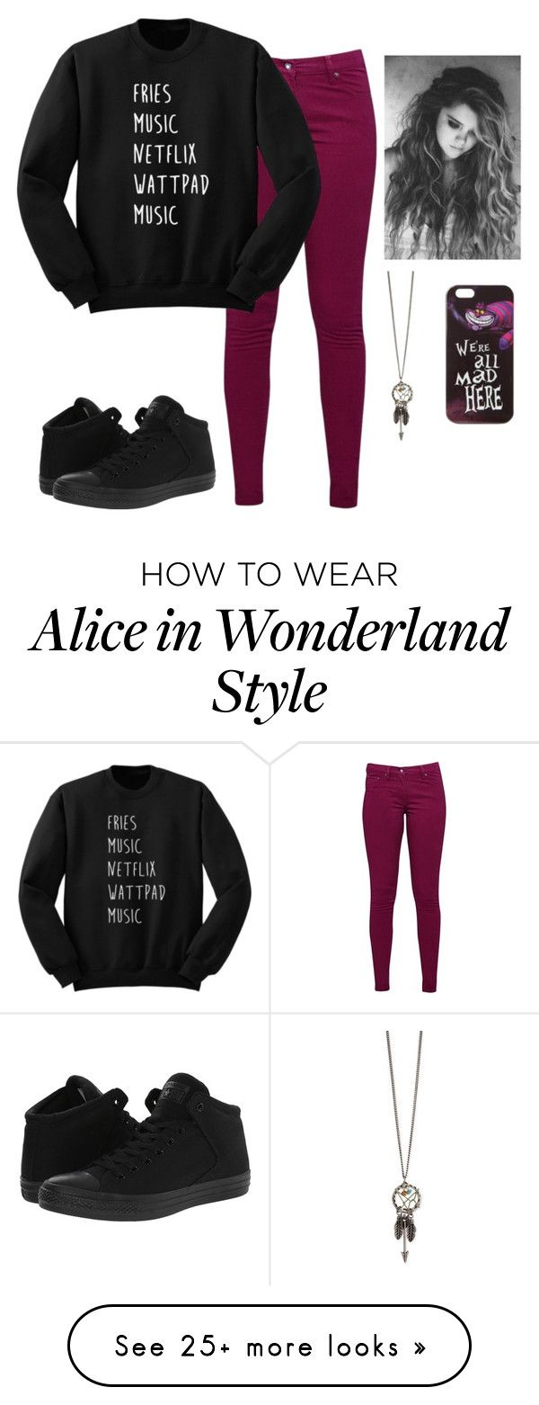 """""""Untitled #191"""" by ambroselove on Polyvore featuring Great Plains, Converse and Disney"""