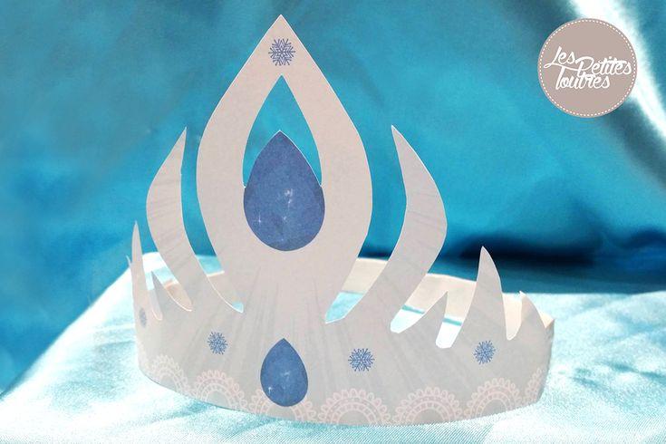 Fabriquer facilement votrecouronnesde lareine des neiges. Modèle à imprimer vous-même pour faire lacouronnede la reine des neiges