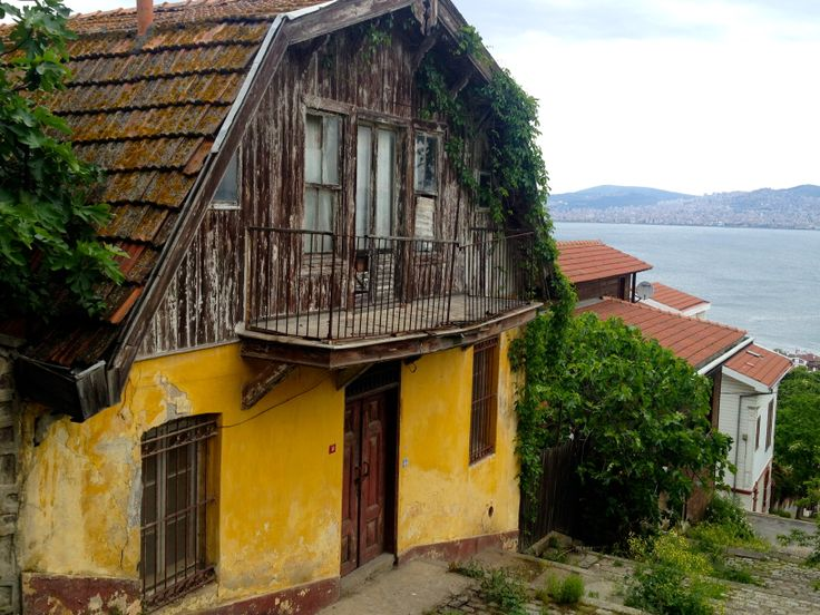Old house in Heybeliada island.  One of the four islands open to the public off of the coast of Istanbul, Turkey
