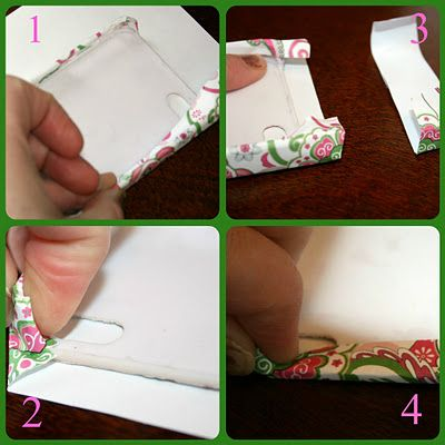 mod podge scrapbook paper cell phone case