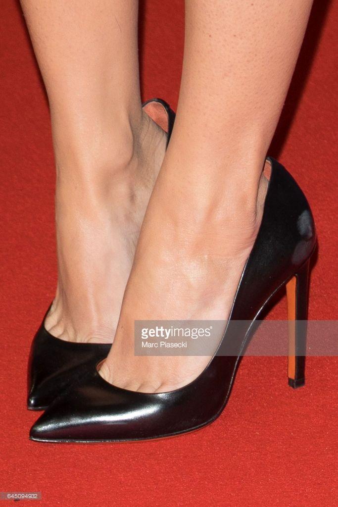 Photo d'actualité : Actress Alice Belaidi, shoe detail, attends the...