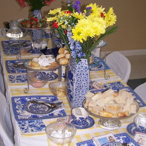 High Tea Table Decor : table decorations for ladies tea  Lovely Ladies High Tea Party Ideas ...