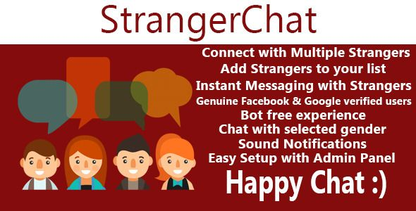 Stranger Chat - Meet the Stranger by mamcodes Stranger Chat is an application where users can login using Facebook, Google or Directly and connect with strangers available and chat with them. Users can add strangers to their friends list to keep connecting to them further. U