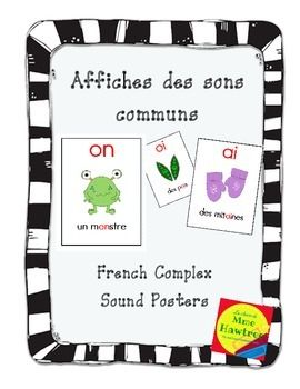 Affiches des sons communs - French Complex sound posters