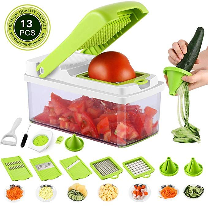 Vegetable Onion Chopper Mandoline Slicer Dicer Cutter Peeler 13 In