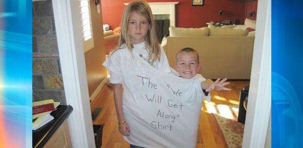 "the ""we will get along"" shirt - future kids, beware :-)"