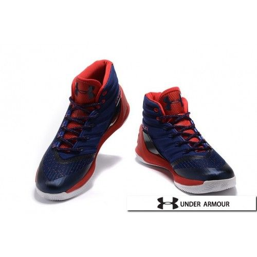 UA Curry 3 Shoes - 2016 Under Armour Stephen Curry 3 Dark Blue Red White Basketball Shoes