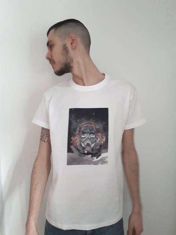 Dark Graphic White Stormtrooper T-shirt Tee Tshirt Dystopians