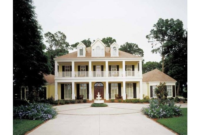 Eplans neoclassical house plan southern charm 5474 for Southern charm house plans