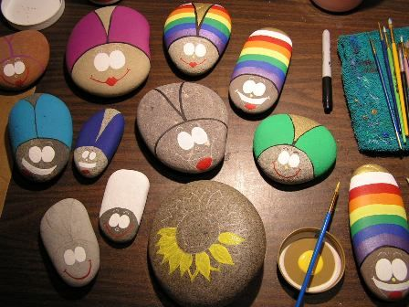 paint bug rocks to take home and put in their own garden. Cute project for the birthday.