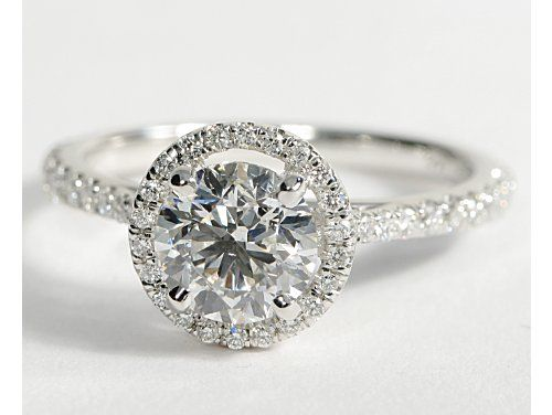 Floating Halo Diamond Engagement Ring ... Create with 1 ct. center diamond, possibly square cut with round halo.