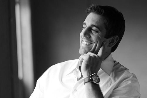 Aaron Rodgers. He's just so darn cute. And my favorite QB. :)