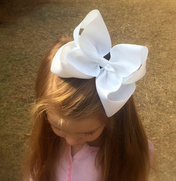 Extra large hair bow Big hair bow for girls by PoshPrincessBows1, $8.99