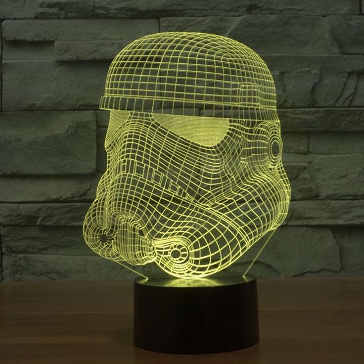 Star Wars Stormtrooper Hologram 3d Light Table Desk Led