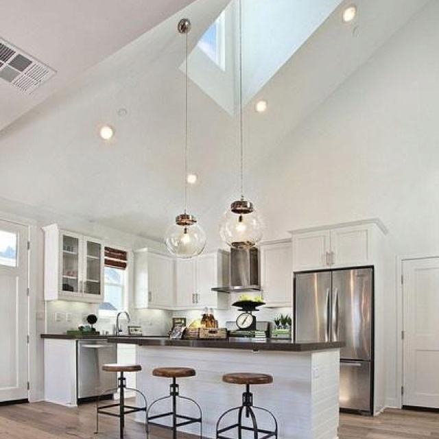Kitchen Lighting Vaulted Ceiling: 34 Best Images About High Ceiling On Pinterest
