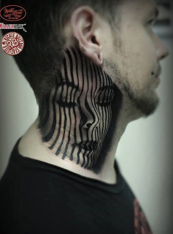 82 best neck tattoos images on pinterest neck tattoos for Best neck tattoos