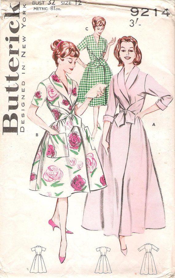 Vintage 1960s Butterick 9214 Bathrobe by GrandmaMadeWithLove, $15.00