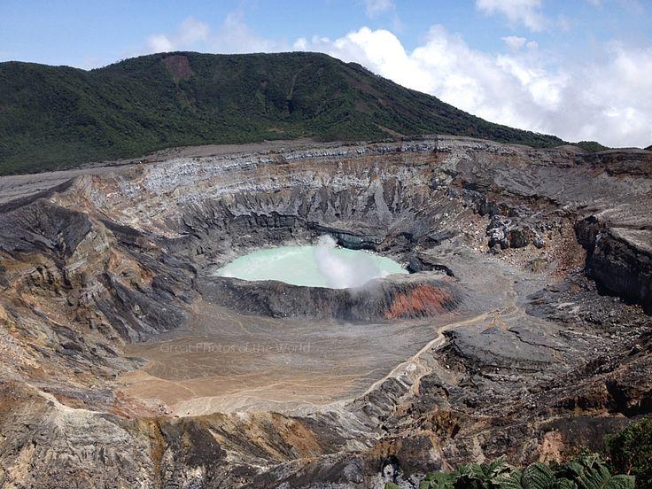 Crater of the Poas volcano, Costa Rica.