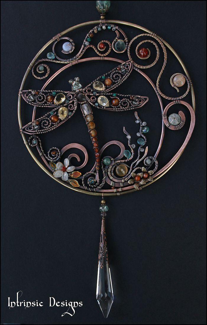 Dragonfly Gemstone Suncatcher by Cathy Heery from Intrinsic Designs