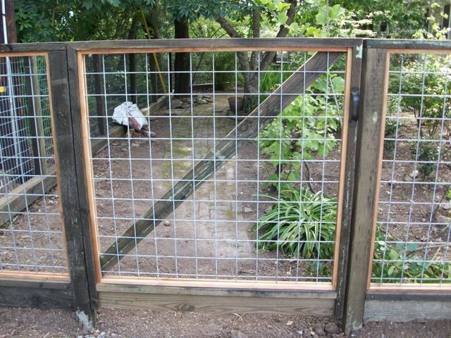 Wire Gate To A Garden By Arbor Fence Inc Wire Fencing