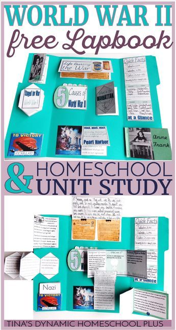 World War II Homeschool History Free Unit Study and Lapbook via @tinashomeschool