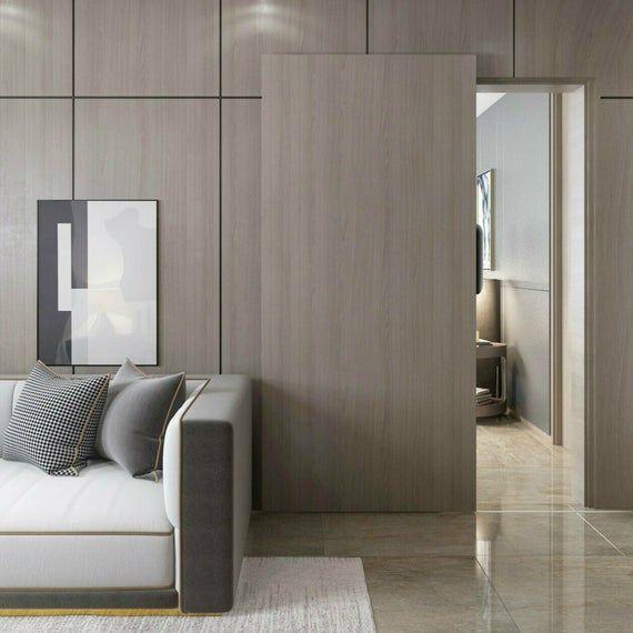 Wall Mounted Aluminium Alloy Concealed Sliding System Hidden Etsy In 2020 Hidden Doors In Walls Interior Barn Door Hardware Small Doors