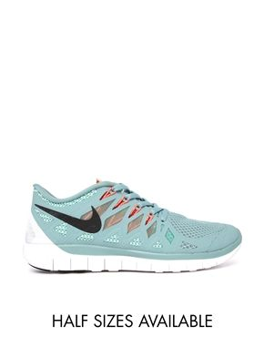 Enlarge Nike Free 5.0 Light Blue Trainers