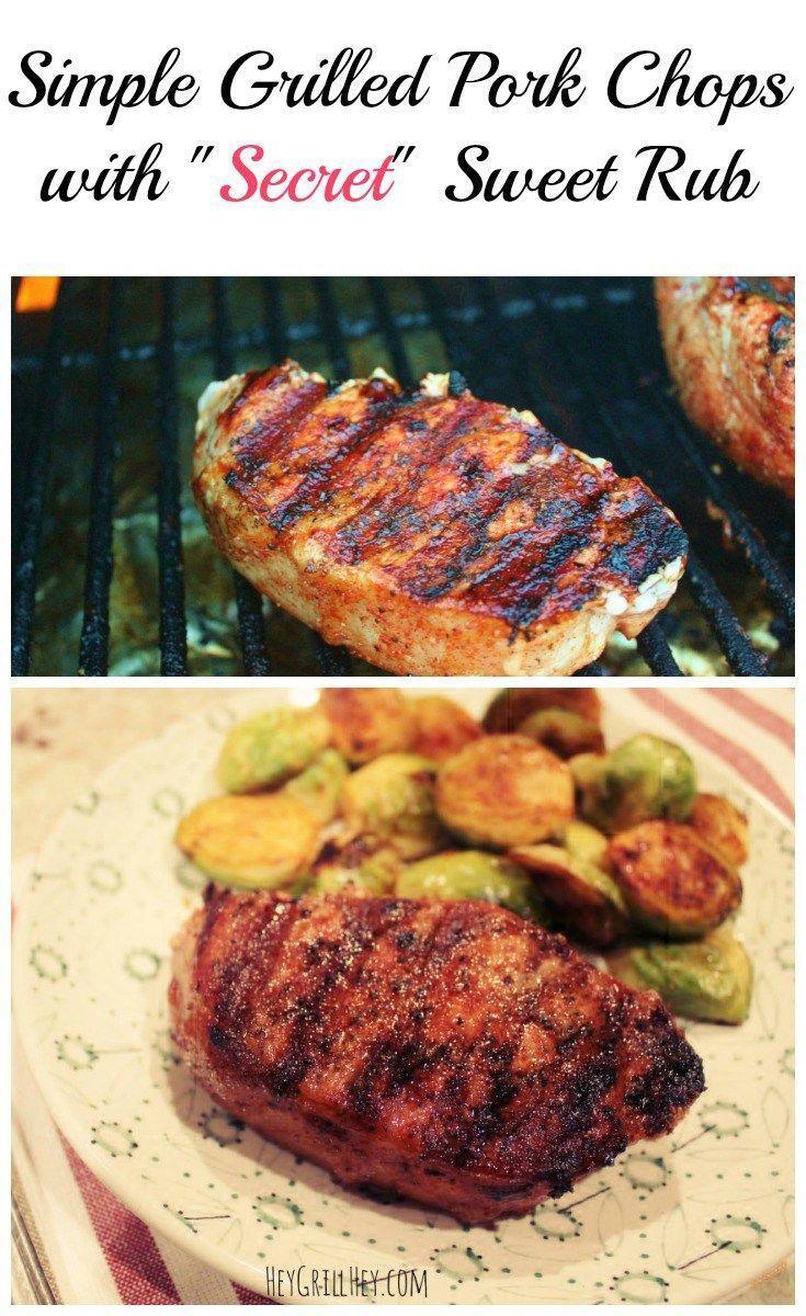 Simple Grilled Pork Chops With Secret Sweet Rub