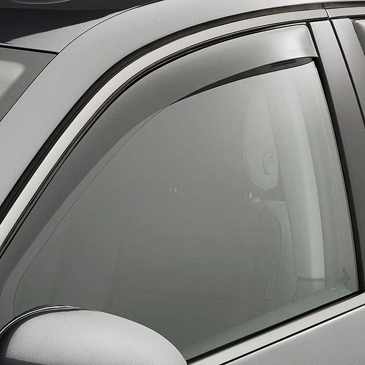 WeatherTech 74398 Series Light Smoke Front/Rear Side Window Deflector Set - Side Window Deflectors WeatherTech(R) Side Window Deflectors, offer fresh air enjoyment with an original equipment look, installing within the window channel. They are crafted from the finest 3mm acrylic material available. Installation is quick and easy, with no exterior tape needed. WeatherTech(R) Side Window Deflectors are precision-machined to perfectly fit your vehicle's window channel. These low profile window…