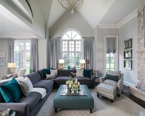 1249 best Gray Paint inspiration images on Pinterest Wall colors - gray couch living room