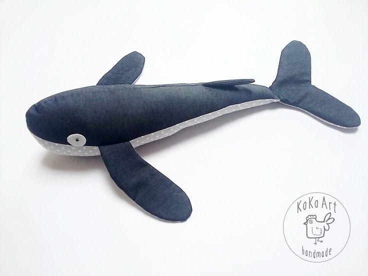 whale from cotton #whale #cotton #cottontoys #handmadetoys #summertoys #toys #handmade #kokoart
