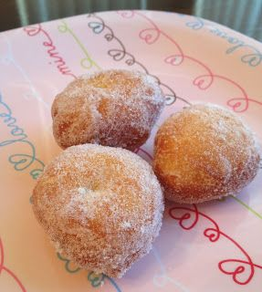 Homemade Malasadas...yum! Tried the Malasada recipe from Cooking Hawaiian Style. (What you always bring to work on Aloha Friday.)