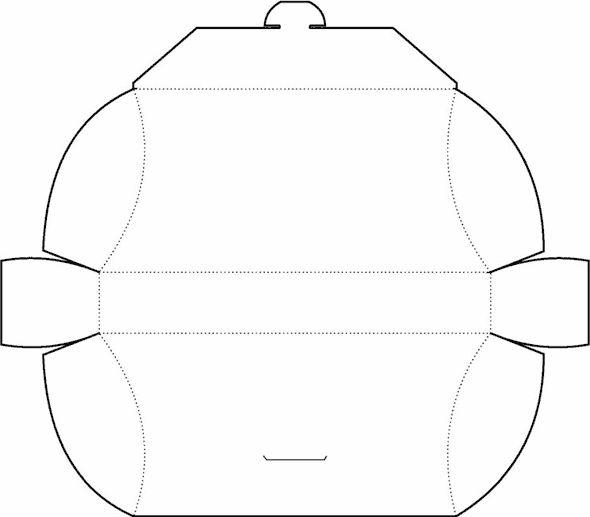 Pillow Box Template No.02 | Free Box Templates Store