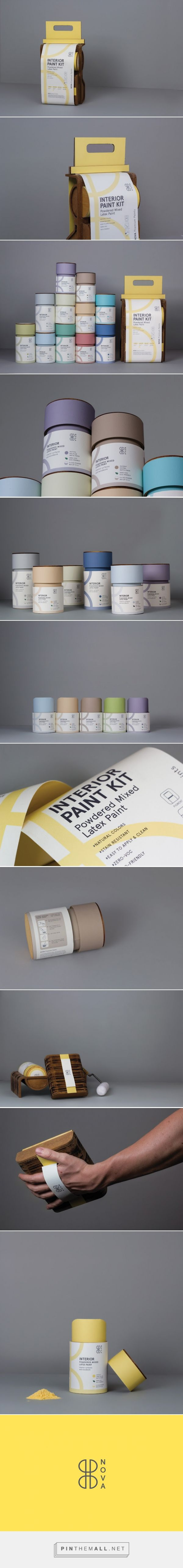 Nova Paints (Student Project) -  Packaging of the World - Creative Package Design Gallery - http://www.packagingoftheworld.com/2016/06/nova-paints-student-project.html