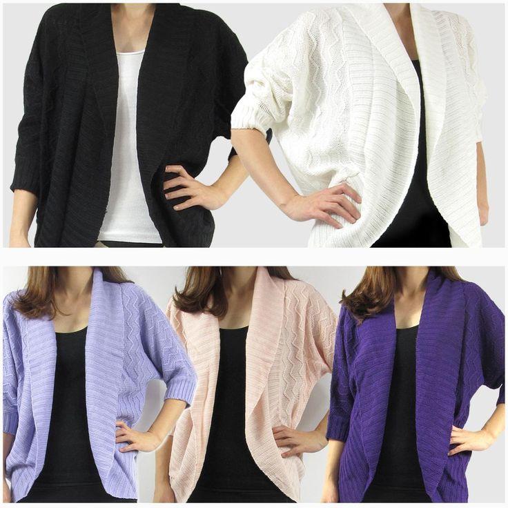 Women's Open Front Shawl Collar Cardigan Black/Off-White/Purple/L.Purple/L.Pink