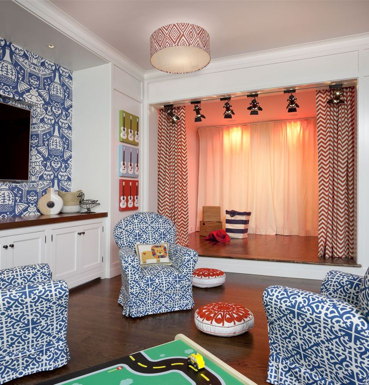 This is awesome, the ultimate play room, for your future little star of the stage.