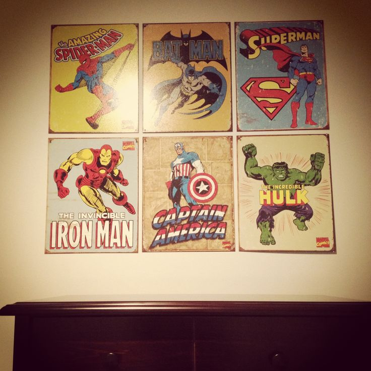 kids bedroom superhero posters batman superman spider man